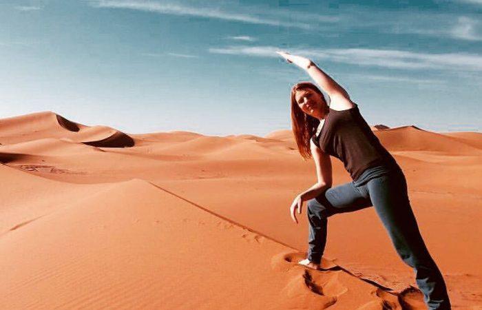 yoga en Merzouga desert